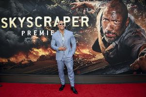"Actor Dwayne Johnson at the ""Skyscraper"" premiere in July. (Photo by Evan Agostini/Invision/AP)"