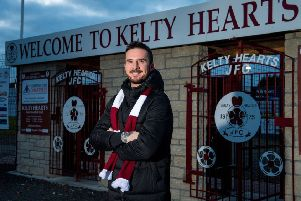 Barry Ferguson is unveiled as the new manager of Kelty Hearts. Pic: Ross Parker/SNS