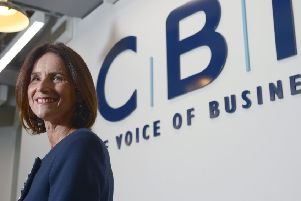 CBI director-general Carolyn Fairbairn says that without an agreement, 'firms will press the button on contingency plans'. Picture: Anthony Devlin/PA