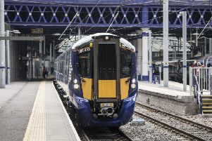 Rail users have been warned to expect travel disruption until at least 10pm due to damaged wires on the Edinburgh Waverley - Glasgow Queen Street line.