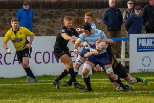 Edinburgh Accies are thwarted by Currie at Raeburn Place. Picture: Scott Louden