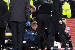 Lennon after the incident. Picture: SNS