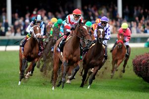 A general view of horses competing in a Breeders' Cup race at Churchill Downs in Louisville, Kentucky. Picture: Getty Images