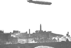 On the evening of 2 April 1916 German zeppelins attacked Edinburgh. Picture: Contributed