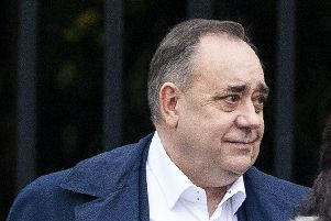 Former First Minister Alex Salmond is seen today.  Picture: Duncan McGlyn