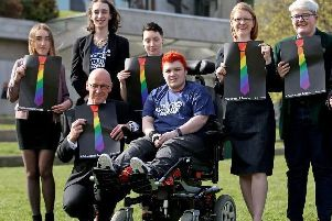 Campaigners from the Time for Inclusive Education (Tie) group. Picture: PA