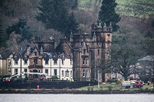 The Cameron House Hotel was largely destroyed in the blaze. Picture: SWNS
