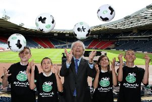 Henry McLeish launched his review of Scottish football at Hampden Park back in 2010. Picture: Andrew Milligan/PA