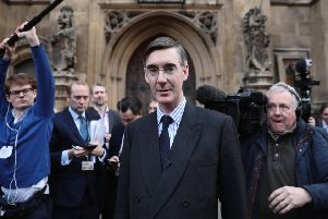 Jacob Rees-Mogg speaks to the media after submitting a letter of no confidence in Prime Minister Theresa May (Picture: Dan Kitwood/Getty Images)