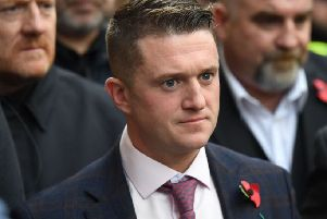 The controversial activist - real name Stephen Yaxley-Lennon - will advise Mr Batten on rape gangs and prison reform. Picture: CHRIS J RATCLIFFE/AFP/Getty