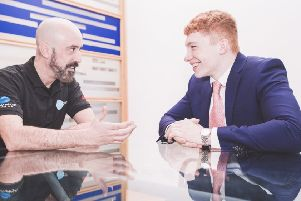 Incovo's Ray Prunty (left) has acted as a mentor for chief executive Chris Thomas, who was just 19 when he took on the CEO role. Picture: John Need
