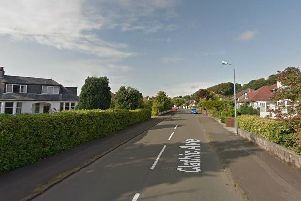 The 81-year-old victim stopped him getting into her house in Clathic Avenue, Bearsden. Picture: Google