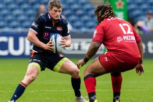 James Johnstone in action for Edinburgh. Picture: SNS