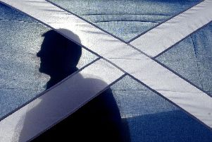 An image of the St Andrews flag