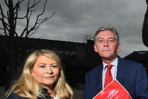 Labour's equalities spokeswoman Pauline McNeill with party leader Richard Leonard. Picture: John Devlin