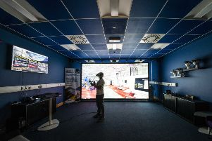 The centre-piece is a projection system with head and hand tracking systems. Picture: Contributed