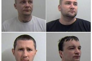 The four Latvian men who were each jailed for four years and 11 months Pic: Police Scotland