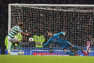 Scott Sinclair was abused as he stepped up to take a penalty in the Betfred Cup final. Picture: Getty
