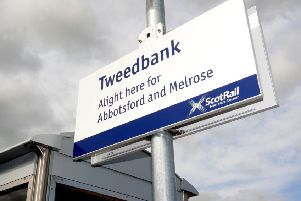 Rail services between Edinburgh and Tweedbank have been cancelled for the rest of the day. Picture: Johnston Press