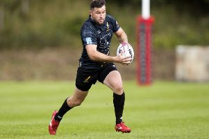 Joe Reynolds in action for Currie. Pic: SNS/SRU/Graham Stuart