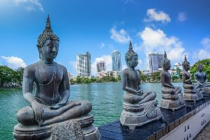 The capital of Sri Lanka, formerly Ceylon, is Colombo, above, not Kandy, the last capital of the ancient kings era. Picture: Getty
