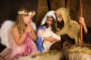 An example of a nativity scene at Christmas time.
