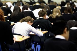 Pupils at Williamwood High School sit prelim exams in Glasgow. Picture: Jeff J Mitchell/Getty Images