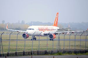 The easyJet flight (not pictured) was forced into an emergency landing before it reached Edinburgh. Picture: Michael Gillen