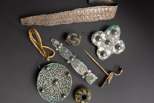 The Galloway Hoard was discovered buried in a field by a metal detectorist four years ago.