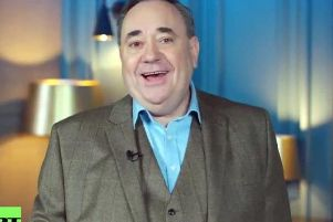 Alex Salmond has hosted a chat show on RT since 2017