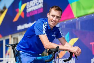 Cyclist Scottish cyclist John Archibald. Pic: SNS/Ross Parker