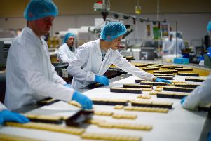 Employees work in the Walkers shortbread factory in Aberlour.  Picture: Jeff J Mitchell/Getty Images