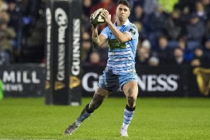 Glasgow stand-off Adam Hastings was punished for mistakes. Picture: Gary Hutchison/SNS