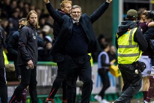 Craig Levein enjoyed Hearts victory at Easter Road.