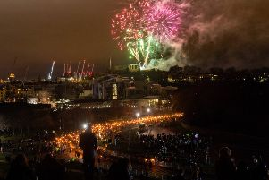 Those with tickets to Edinburgh's Hogmanay celebrations will see warmer than usual temperatures. Picture: Ian Georgeson