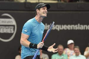 Andy Murray during his straight sets win over James Duckworth. Picture: Albert Perez/Getty Images
