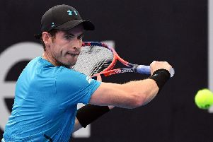 Andy Murray lost to Daniil Medvedev in straight sets. Pic: Getty