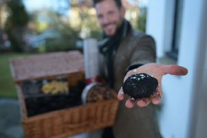 Lidl handed out free lumps of coal to its shoppers to help encourage first-footing at Hogmanay (Picture: Julie Howden/Lidl)