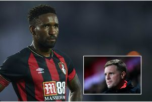 Jermain Defoe and, inset, manager Eddie Howe. Pictures: Getty Images