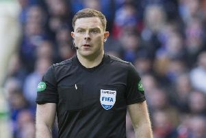 Referee John Beaton received abusive messages following last weekend's Old Firm clash. Picture: PA Wire