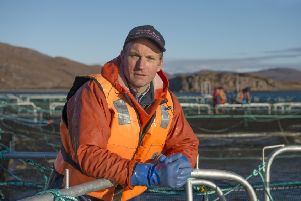 Gilpin Bradley, managing dierctor of Wester Ross Fisheries, says using cleaner fish is the single biggest advance that has ever been made in salmon farming. Picture: The Write Image