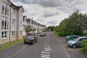The woman was walking her dog in West Fairbrae Drive when the incident happened.