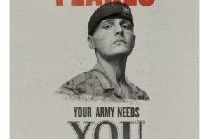 The Scots Guard used in this recruitment poster has now talked about quitting the Army (Picture: MoD/PA)