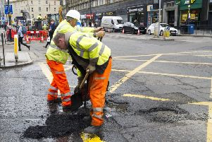 The council has an �8.35m roads repairs underspend