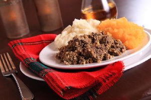 Traditionally haggis is eaten with neeps (turnip) and tatties (mashed potatoes). (Photo: Shutterstock)