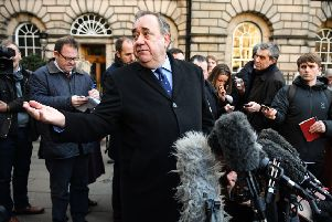 Alex Salmond speaks to the press after winning a judicial review against the Scottish Government (Picture: Jeff J Mitchell/Getty Images)