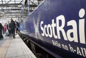 A ScotRail train at the station