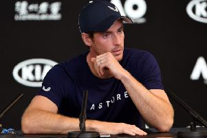 Andy Murray breaks down during his press conference in Melbourne as he reveals injury is forcing him to retire this year. Picture: William West/AFP/Getty Images