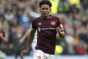 Demetri Mitchell is enjoying the competition with Ben Garuccio for the left-back position at Tynecastle. Picture: SNS.