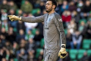 Craig Gordon needed three operations and had a metal plate inserted into his arm. Picture: SNS